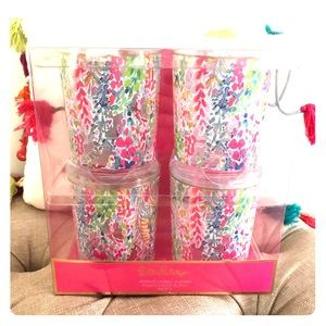 Lilly Pulitzer Catch The Wave Acrylic Glasses